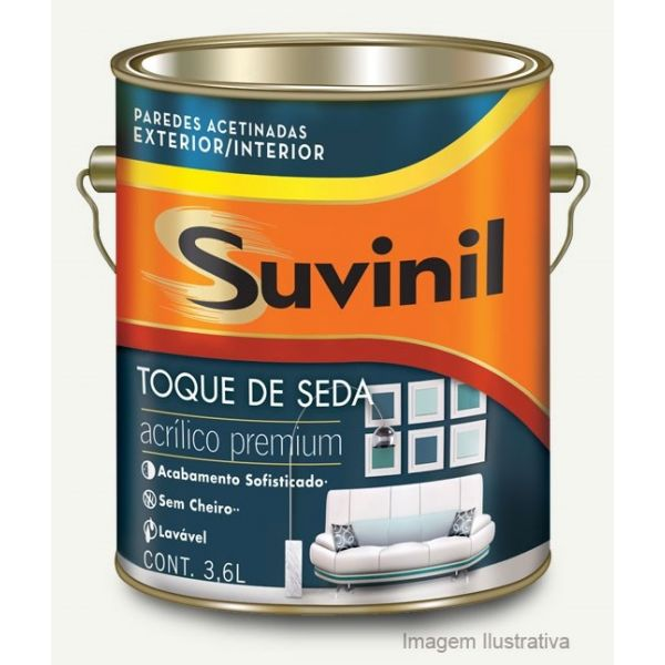 Acrílico Toque de Seda Premium 3,6l Branco Neve Suvinil