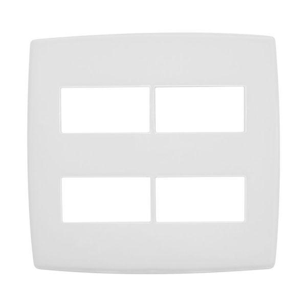 Placa 4x4 2+2p  Separados  618514 Pial Plus