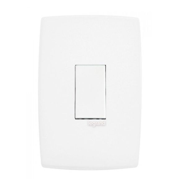 Conjunto Interruptor Simples Vertical Branco  Pialplus