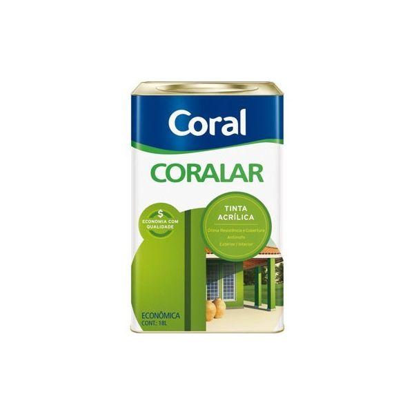 Tinta Coralar Acrílica Branco Gelo 18 Litros Coral