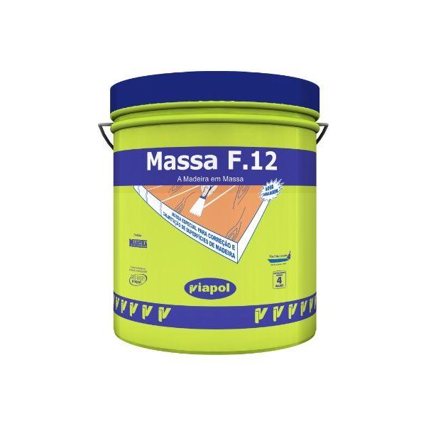 Massa F-12 Fusecolor 400g Viapol Castanho