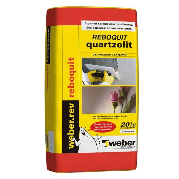 Argamassa Reboquit Massa Fina 20kg Quartzolit