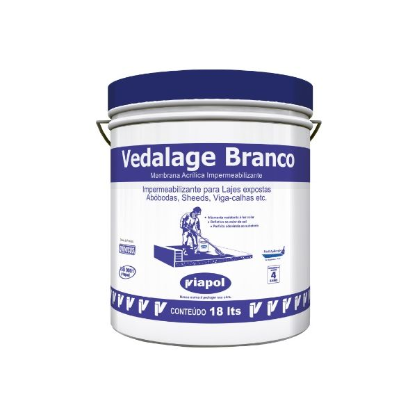 Vedalage Branco 18 litros Viapol Fusecolor