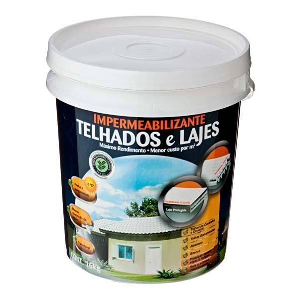 Impermeabilizantes Telhados / Lajes 16 Kg Fosco Hydronorth Concreto
