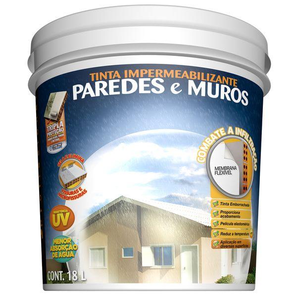Impermeabilizante Paredes e Muros 18Litros Palha Hydronorth