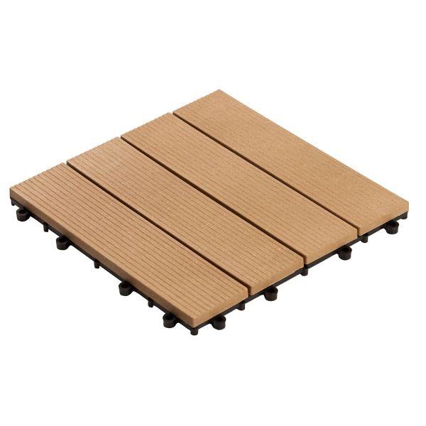 Deck Sustentável Frisado 30x30x2 DE2992 Cumaru Massol