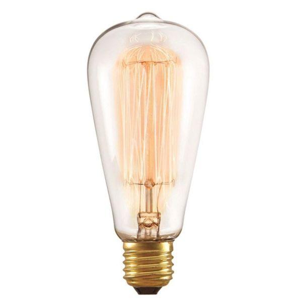 Lâmpada Filamento de Carbono St64 40w 3000k  127V Taschibra
