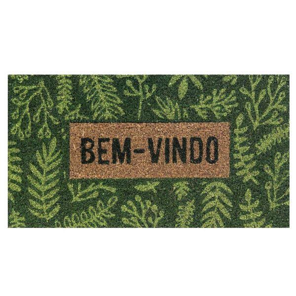 Capacho Fibra Coco Rt 60x33cm Kea2  453  Folha Verde Komeco