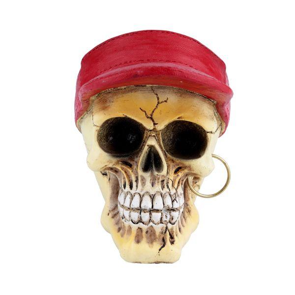 Caveira Resina Visor Bone Vermelho 40186  Urban