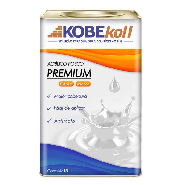Tinta Acrílica Fosco Premium 18 Litros Branca Kobekoll