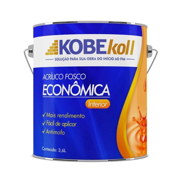 Tinta Acrílica Fosco Econômica 3,6 Litros Branca Kobekoll