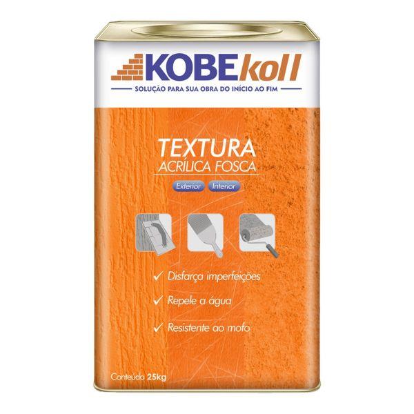 Textura Acrílica Riscada Lata 25kg  Branco Kobekoll