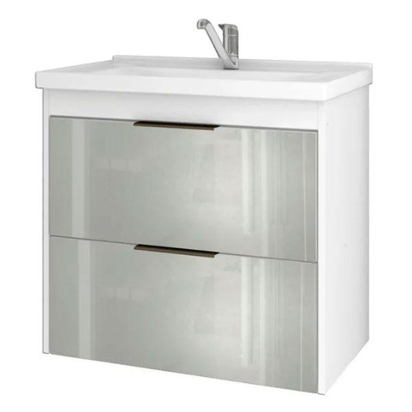 Gabinete Bromélia 59x35.5x56 Frente Espelho  Branco MGM
