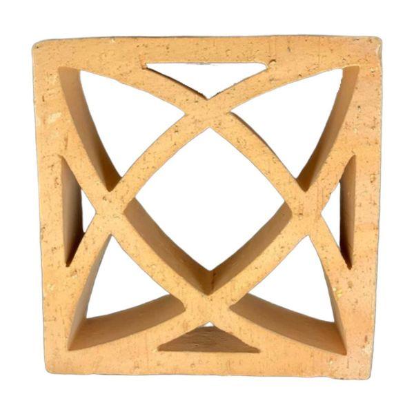 Elemento Vazado 25x25 Mashra Natural Rhodes