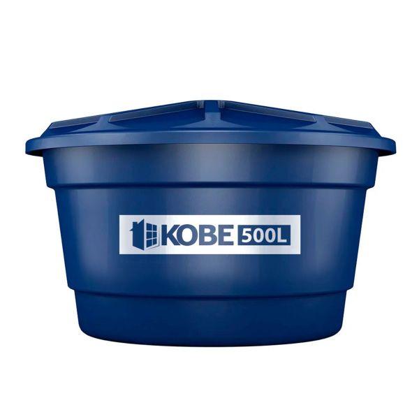 Caixa D´Água Convencional Polietileno 500L Azul Kobe