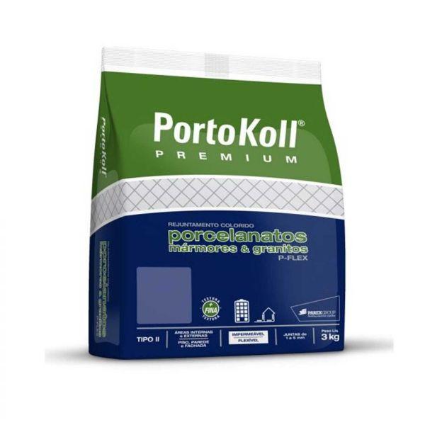Rejunte  P-Flex Up 3kg Cinza Àrtico Portokoll