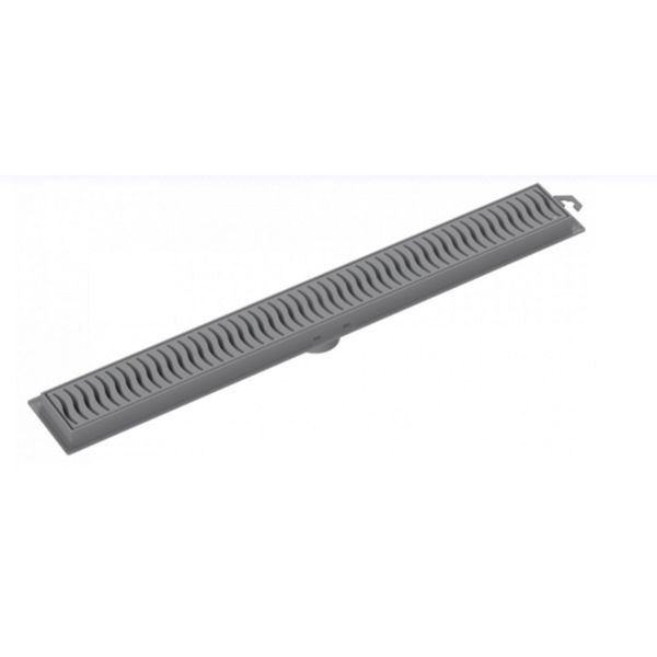 Ralo Linear Flat 50cm Grelha Cinza Tigre