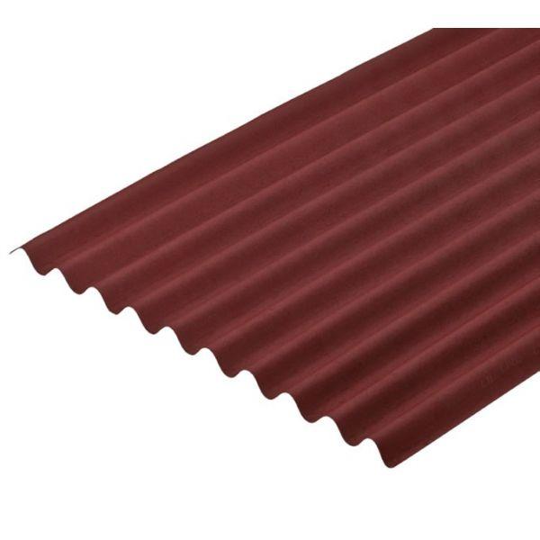 Telha Ondulada vermelha 200x95cm Onduline