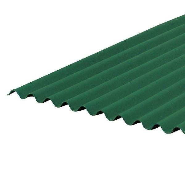 Telha Ondulada Verde 200X95 CM Onduline